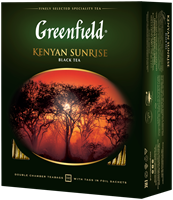 Чай черный GREENFIELD Kenyan Sunrise, 100пак