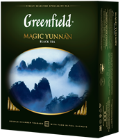 Чай черный GREENFIELD Magic Yunnan, 100пак