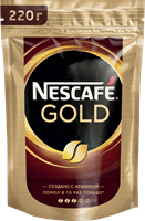 Кофе растворимый NESCAFE Gold натуральный сублимированный, 220г