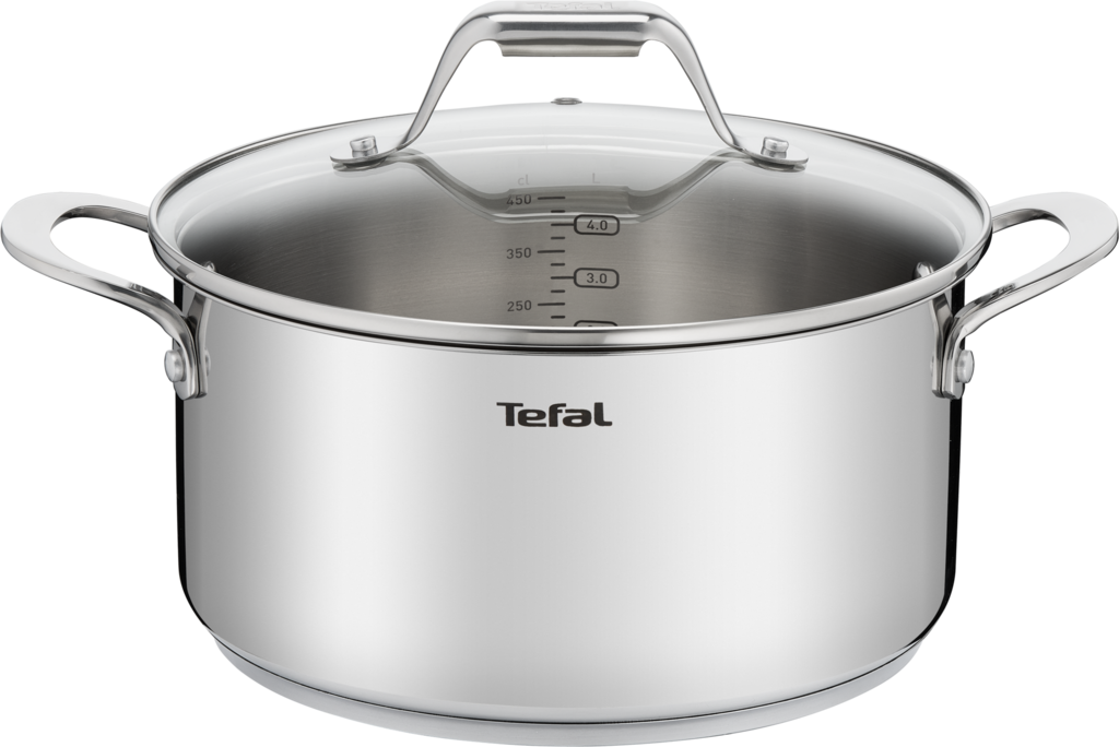 Кастрюля TEFAL Emotion 24см, нерж.сталь, индукция H8114674